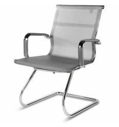 Кресло NORDEN Helmut CF Grey для посетителя, хром, сетка, цвет серый
