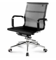 Кресло NORDEN Helmut LB Black для руководителя, хром, сетка, цвет черный