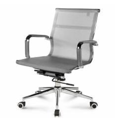 Кресло NORDEN Helmut LB Grey для руководителя, хром, сетка, цвет серый