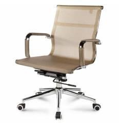 Кресло NORDEN Helmut LB Bronze для руководителя, хром, сетка, цвет бронзовый