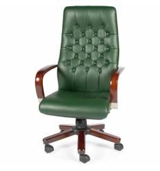 Кресло NORDEN Chester Green для руководителя, дерево, экокожа, цвет зеленый