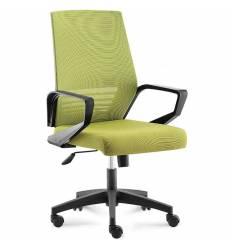 Кресло NORDEN Ergo Black LB Full Green для руководителя, черный пластик, зеленая сетка, зеленая ткань