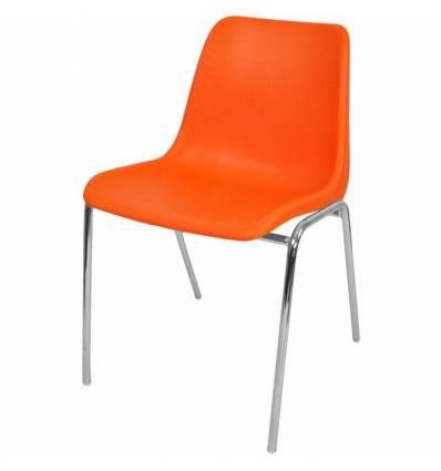 Стул ITALSEAT Vicenza-4 оранжевый пластиковый, цвет Arancio RAL 2009