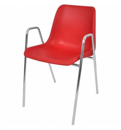 Стул ITALSEAT Vicenza-4П красный пластиковый, цвет Rosso RAL 3002