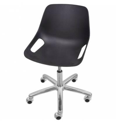 Кресло ITALSEAT Q5 SW Chrome черный для оператора, хром, пластик, цвет Nero RAL 8022