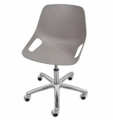 Кресло ITALSEAT Q5 SW Chrome серый для оператора, хром, пластик, цвет Grigio RAL 7003