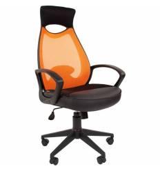 Кресло CHAIRMAN 840 Black/Orange для руководителя, цвет черный/оранжевый