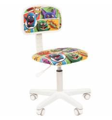 Кресло CHAIRMAN KIDS 101 Monstry детское, белый пластик, ткань, с рисунком монстры
