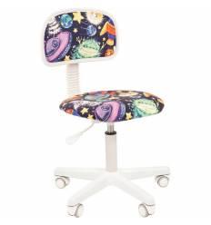 Кресло CHAIRMAN KIDS 101 NLO детское, белый пластик, ткань, с рисунком НЛО