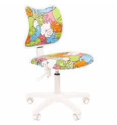Кресло CHAIRMAN KIDS 102 Cats детское, белый пластик, ткань, с рисунком котики