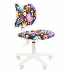 Кресло CHAIRMAN KIDS 102 NLO детское, белый пластик, ткань, с рисунком НЛО