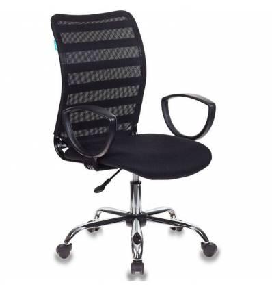 Кресло Бюрократ CH-599AXSL/32B/TW-11 для оператора, хром, сетка/ткань, цвет черный