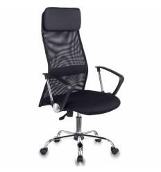 Кресло Бюрократ KB-6N/SL/B/TW-11 для руководителя, сетка-ткань, цвет черный