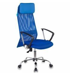 Кресло Бюрократ KB-6N/SL/BL/TW-10 для руководителя, сетка-ткань, цвет синий
