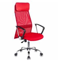 Кресло Бюрократ KB-6N/SL/R/TW-97N для руководителя, сетка-ткань, цвет красный