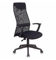 Кресло Бюрократ KB-8N/BLACK для руководителя, сетка-ткань, цвет черный