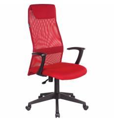Кресло Бюрократ KB-8N/R/TW-97N для руководителя, сетка-ткань, цвет красный