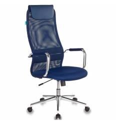 Кресло Бюрократ KB-9N/DB/TW-10N для руководителя, сетка-ткань, цвет синий