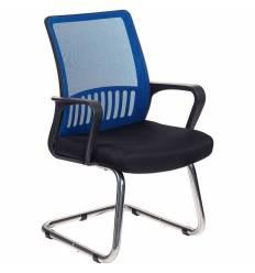 Кресло Бюрократ MC-209/BL/TW-11 для посетителя, цвет синий-черный, спинка сетка