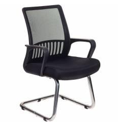 Кресло Бюрократ MC-209/B/TW-11 для посетителя, цвет черный, спинка сетка