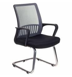 Кресло Бюрократ MC-209/DG/TW-11 для посетителя, цвет серый-черный, спинка сетка