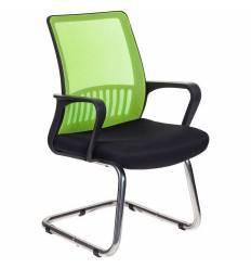 Кресло Бюрократ MC-209/SD/TW-11 для посетителя, цвет салатовый-черный, спинка сетка