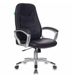 Кресло Бюрократ T-9910N/BLACK для руководителя, экокожа-ткань, цвет черный