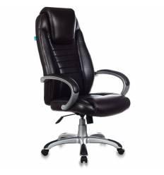 Кресло Бюрократ T-9923/BROWN-PU для руководителя, экокожа, цвет темно-коричневый