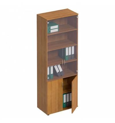 Шкаф для документов СТОРОСС Формула ФР-379-ОН со стеклом, 80*45*219, цвет орех натуральный