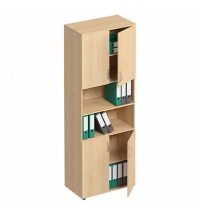 Шкаф для документов СТОРОСС Формула ФР-374-БК полузакрытый 4-х дверный, 80*45*219, цвет бук
