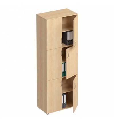 Шкаф для документов СТОРОСС Формула ФР-377-БК закрытый 6-дверный, 80*45*219, цвет бук
