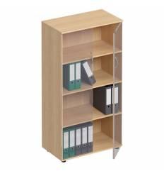 Шкаф для документов СТОРОСС Формула ФР-366-БК закрытый со стеклом, 80*45*148, цвет бук