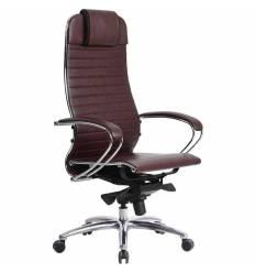 Кресло Samurai K-1.03 бордовый для руководителя, кожа