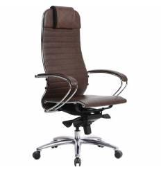 Кресло Samurai K-1.03 темно-коричневый для руководителя, кожа