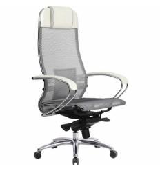 Кресло Samurai S-1.03 белый лебедь для руководителя, сетка