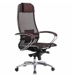 Кресло Samurai S-1.03 бордовый для руководителя, сетка