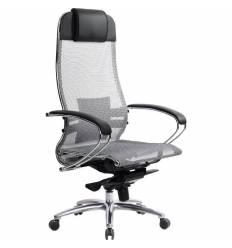 Кресло Samurai S-1.03 серый для руководителя, сетка