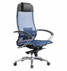 Кресло Samurai S-1.03 синий для руководителя, сетка