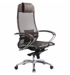 Кресло Samurai S-1.03 темно-коричневый для руководителя, сетка