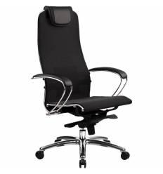 Кресло Samurai S-1.03 черный плюс для руководителя, сетка