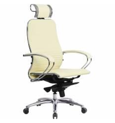 Кресло Samurai K-2.03 бежевый для руководителя, кожа