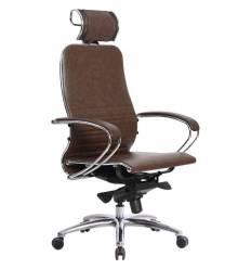 Кресло Samurai K-2.03 темно-коричневый для руководителя, кожа