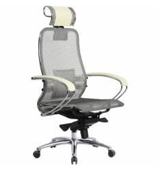Кресло Samurai S-2.03 бежевый для руководителя, сетка