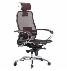 Кресло Samurai S-2.03 бордовый для руководителя, сетка