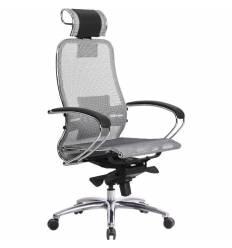 Кресло Samurai S-2.03 серый для руководителя, сетка