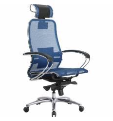 Кресло Samurai S-2.03 синий для руководителя, сетка