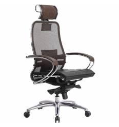Кресло Samurai S-2.03 темно-коричневый для руководителя, сетка