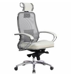 Кресло Samurai SL-2.03 белый лебедь для руководителя, сетка-кожа