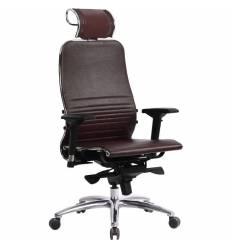 Кресло Samurai K-3.03 бордовый для руководителя, кожа