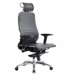 Кресло Samurai K-3.03 черный для руководителя, кожа